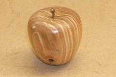 Winston Amos's finished apple.