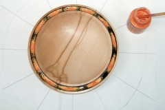 This is how it looked after applying the Pebeo Moon apricot, there is no waiting time before applying the Moon paint.
