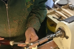 Dave Line  making a wooden pen.