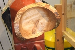 Mark Dale's completed natural edged bowl.