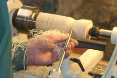 A close up of Dave Line's cuts, note the ribbon like shavings, exactly what's required to achieve a good finish.
