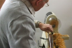 Bob Chisholm working the inside of his bowl, again the ghosting is very clear.