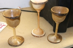 David Hutcheson's finished goblets.