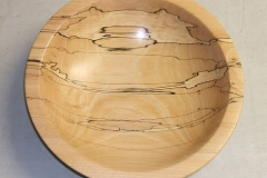 Here is David's completed bowl, a highly spalted piece of Beech.