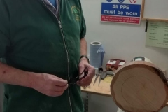 Here we have Dave Line as he is setting up to start his clock. He too would be making a skeleton clock.