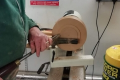 Here John can be seen making the slight recess for the chapter ring.