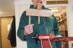 Here John can be seen showing the members the finished clamp.