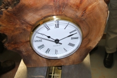 Another view of Richard's finished clock.