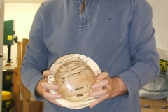 Here we have Geoff Potter, Geoff made this very nice spalted beech bowl.
