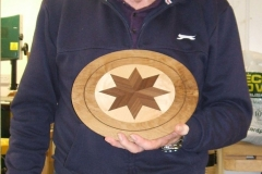 Bill went on to describe how he made the plate stand,the accuracy of Bill's work is quite impressive.