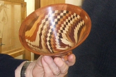 The bowl was made from several different timbers.