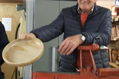 Here we have Bob Chisholm, Bob had several item to show, here is his first a wooden platter made in Sycamore.