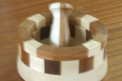 Another of Bob's items, a Mortar and pestle made from a segmented form.