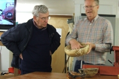 The second of Geoff's items was this highly spalted bowl, it had been made from a piece of Beech that had been cut using a bowl saver.