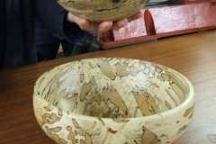 A closer view of Geoff's Spalted Beech bowl.