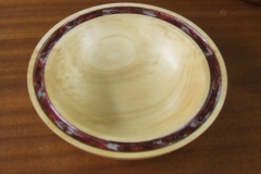 This was one of my small plates, made in Lime and using some Pebeo Paints for the rim.