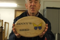 Not everything I make comes off the lathe, here I had made a sign in Sycamore using the laser and some paints.