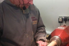 Here we have David Hutcheson as he starts his spindle work.
