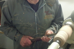 Here we have Bill Munro as he starts his spindle work.