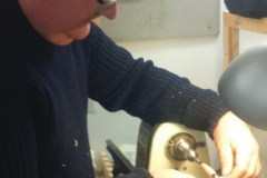 Here we have David McGruer as he starts his spindle work.