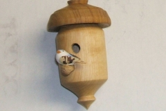 Colin MacKenzie's completed miniature bird house.