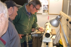 Here Bill Munro is guiding Dave Line as he make his cuts.