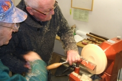 Bill now taking some cuts across the face of the blank, he was growing in confidence with every cut.