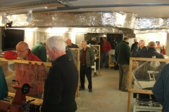 A view inside the club premises with the members watching all the different turners at work.