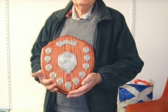 John Ruickbie won the shield in the Experienced class for the total points won over the year 2019.