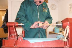 Here John can be seen starting the thread with the use of a hand held threading box.