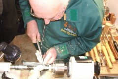 Here John is doing the finishing cuts to his project.