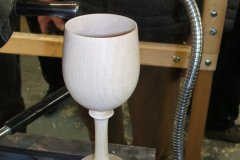 Here is Errol's finished goblet.