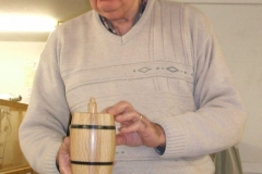 First up we had John Ruickbie, he showed a small barrel made from some whiskey barrel staves.