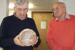 Another of Bob's entries, a splated beech bowl, I'm answering a question from the floor on this one.