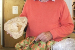 Last of Bob's entries was a very nice natural edged bowl, again in spalted beech.