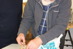 Here we have Douglas Stewart, Douglas made a whole wide range of wooden jewellery.