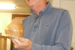 Another entry from Geoff was this small hollow vessel made from Cherry and Mahogany.